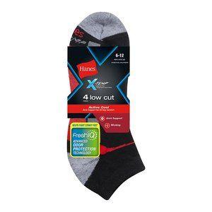 Men's X-Temp Arch Support Low Cut Socks 4-Pack